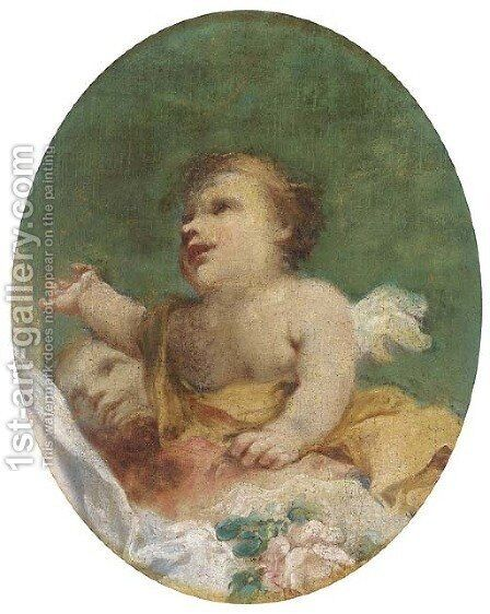 Amorini by (after) Giovanni Antonio Pellegrini - Reproduction Oil Painting