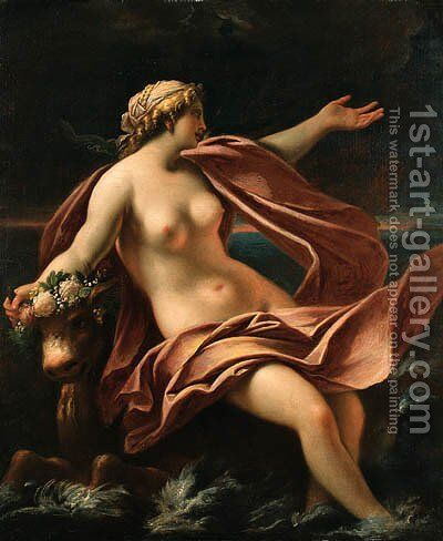 The Rape of Europa by (after) Giovanni Antonio Pellegrini - Reproduction Oil Painting