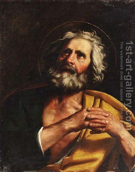 Saint Peter by (after) Giovanni Francesco Guercino (BARBIERI) - Reproduction Oil Painting