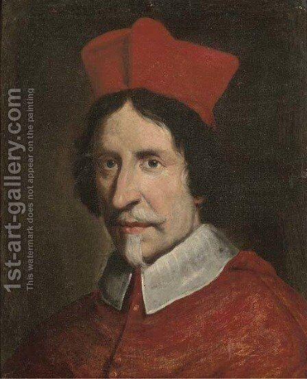 Portrait of a Cardinal 2 by (after) Giovanni Battista (Baciccio) Gaulli - Reproduction Oil Painting