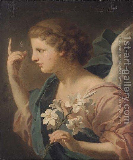The Angel of the Annunciation by (after) Giovanni Battista (Baciccio) Gaulli - Reproduction Oil Painting