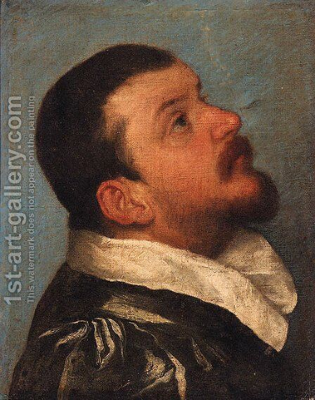 Portrait of a gentleman 2 by (after) Giovanni Battista Moroni - Reproduction Oil Painting