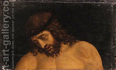 The Head of Christ by (after)  Giovanni Bellini - Reproduction Oil Painting