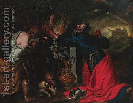 The Sacrifice of Noah by (after) Giovanni Benedetto Castiglione - Reproduction Oil Painting