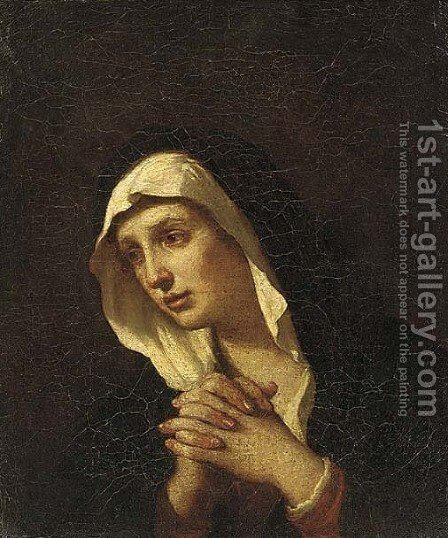 Mater Dolorosa by (after) Giovanni Francesco Guercino (BARBIERI) - Reproduction Oil Painting