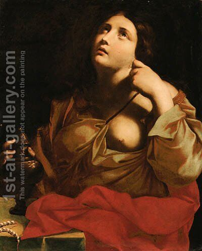 The Penitent Magdalen by (after) Giovanni Giacomo Sementi - Reproduction Oil Painting