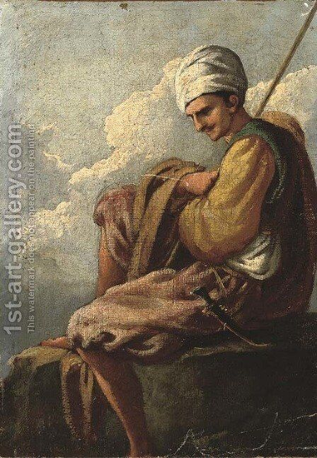 An Ottoman by (after) Giulio Carpioni - Reproduction Oil Painting