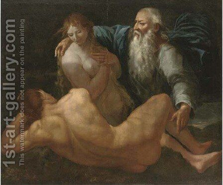 The Creation of Adam and Eve by (after) Giulio Carpioni - Reproduction Oil Painting