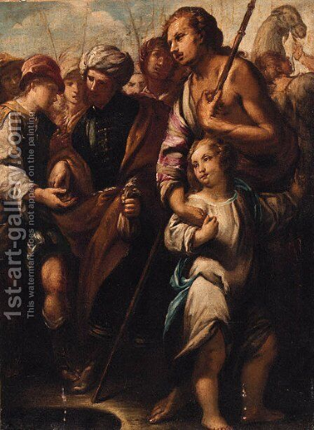 Joseph sold into slavery by (after) Giuseppe Nuvolone - Reproduction Oil Painting