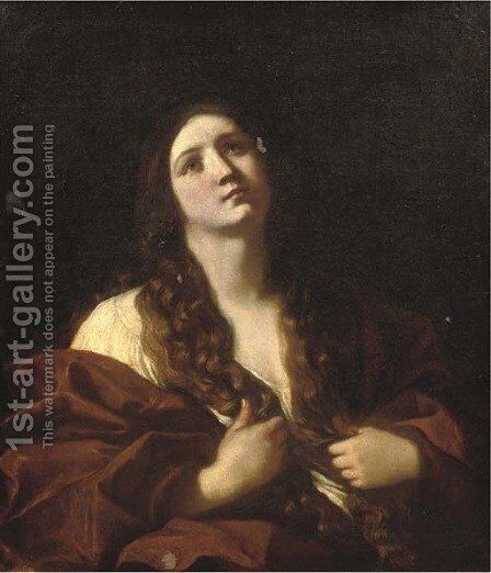 The Penitent Mary Magdalene by (after) Guido Cagnacci - Reproduction Oil Painting