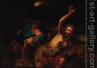 The Rape of Lucretia by (after) Guido Cagnacci - Reproduction Oil Painting