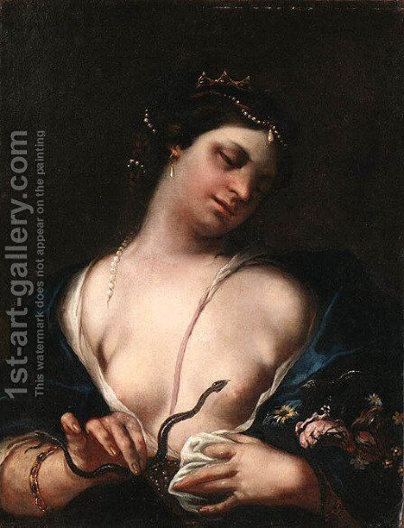 Cleopatra and the Asp by (after) Guido Cagnacci - Reproduction Oil Painting