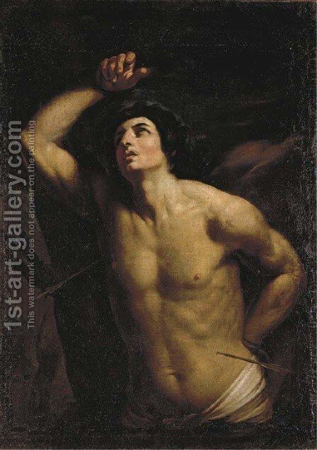 Saint Sebastian 3 by (after) Guido Reni - Reproduction Oil Painting