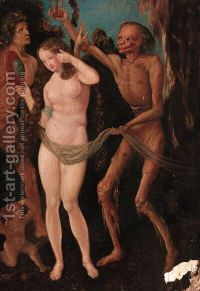 Death and the Virgin by (after) Hans Baldung Grien - Reproduction Oil Painting