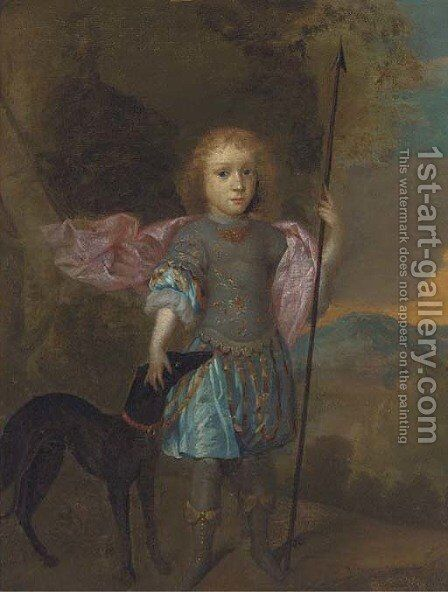 Portrait of a boy by (after) Hans Hysing - Reproduction Oil Painting