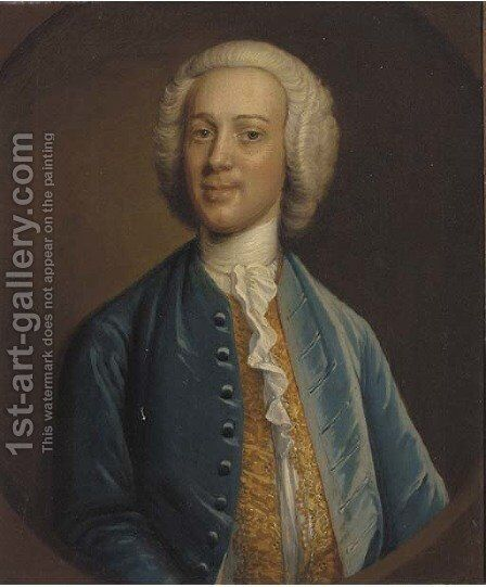 Portrait of Robert Jenkins by (after) Hans Hysing - Reproduction Oil Painting