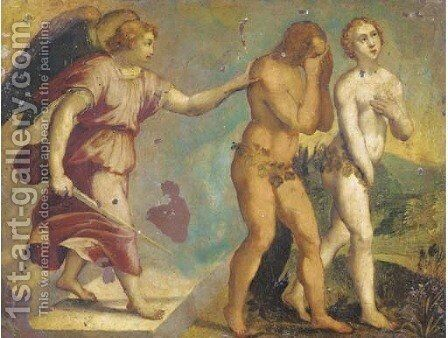 The Expulsion of Adam and Eve by (attr. to) Rottenhammer, Hans - Reproduction Oil Painting