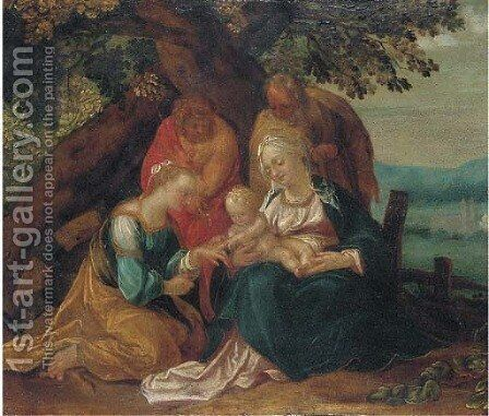The Mystic Marriage of Saint Catherine by (attr. to) Rottenhammer, Hans - Reproduction Oil Painting