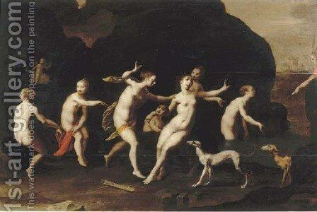 Diana and Actaeon by (after) Hans Von Aachen - Reproduction Oil Painting
