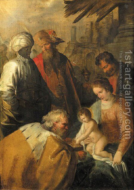 The Adoration of the Magi by (after) Hendrik Van Balen, I - Reproduction Oil Painting