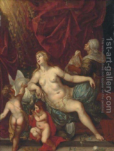 Danae by (after) Hendrick De Clerck - Reproduction Oil Painting