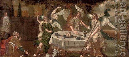 Abraham and the Three Angels by (after) Hendrik Van Balen, III - Reproduction Oil Painting