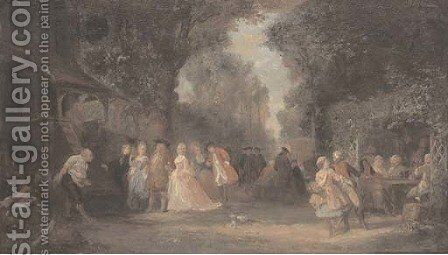 The garden party by (after) Henri Charles Antoine Baron - Reproduction Oil Painting