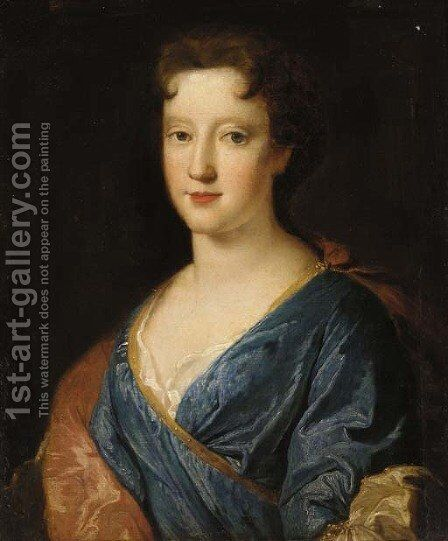 Portrait of a lady by (after) Henri Gascars - Reproduction Oil Painting