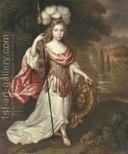 Portrait of Dorothy Langley (1668-88) by (after) Henri Gascars - Reproduction Oil Painting