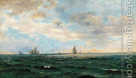 Crossing the horizon by (after) Henry Moore - Reproduction Oil Painting