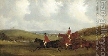 Over the fence; and The kill by (after) Henry Thomas Alken - Reproduction Oil Painting