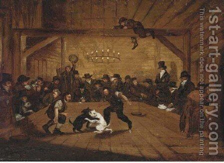 The dog-fight by (after) Henry Thomas Alken - Reproduction Oil Painting