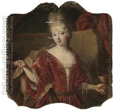 Portrait of a lady 2 by (after) Heroman Van Der Mijn - Reproduction Oil Painting