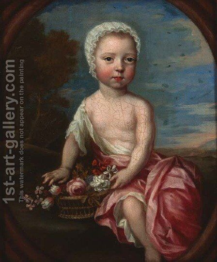 Portrait of a child by (after) Heroman Van Der Mijn - Reproduction Oil Painting