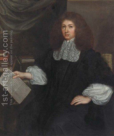 Portrait of a gentleman by (after) Isaac Luttichuys - Reproduction Oil Painting