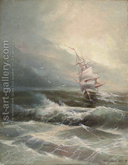 Before the storm by (after) Ivan Konstantinovich Aivazovsky - Reproduction Oil Painting