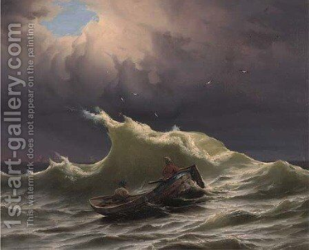 A stormy sea by (after) Ivan Konstantinovich Aivazovsky - Reproduction Oil Painting