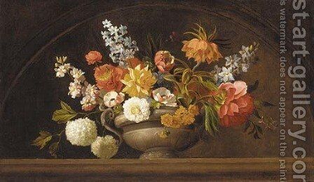 Flowers by (after) Jacob Bogdani - Reproduction Oil Painting