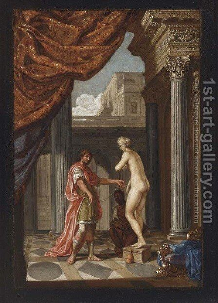 Pygmalion and Galatea by (after) Jacobus Saeys - Reproduction Oil Painting