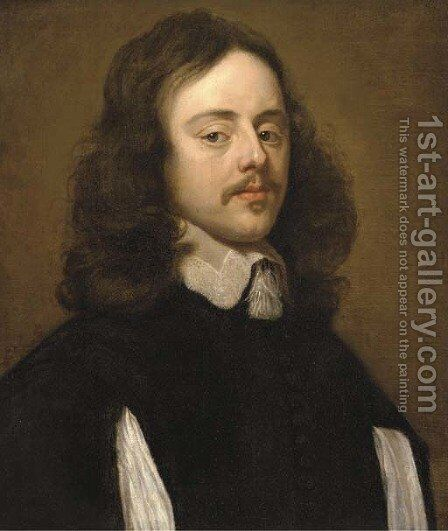 Portrait of a gentleman by (after) Jacob Van, The Elder Oost - Reproduction Oil Painting