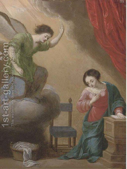 The Annunciation by (after) Jacques Stella - Reproduction Oil Painting