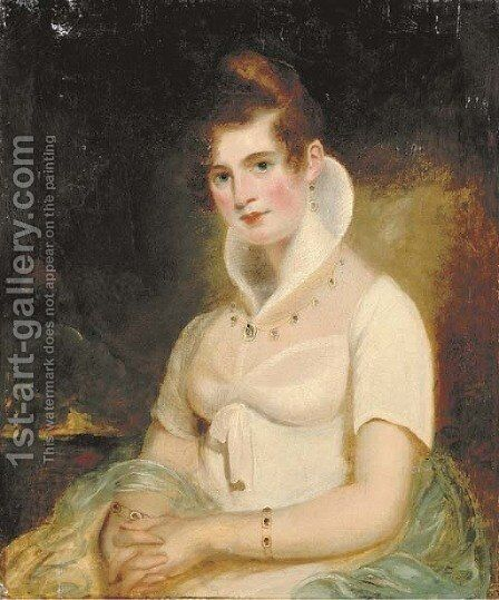 Portrait of a lady by (after) James Northcote - Reproduction Oil Painting