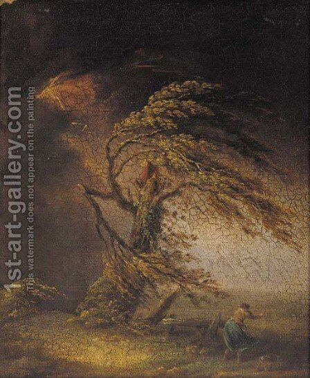 A tree struck by lightning by (after) James Ward - Reproduction Oil Painting