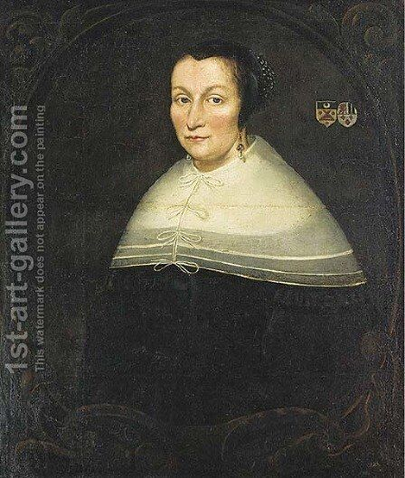 Portrait of a lady by (after) Jan Albertsz. Rootius - Reproduction Oil Painting