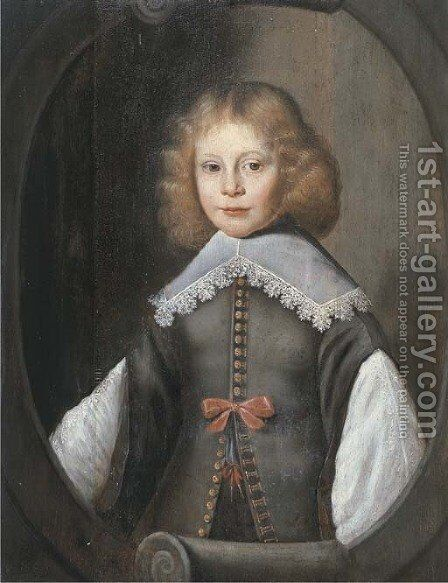 Portrait of a boy by (after) Anthony Van Ravesteyn - Reproduction Oil Painting