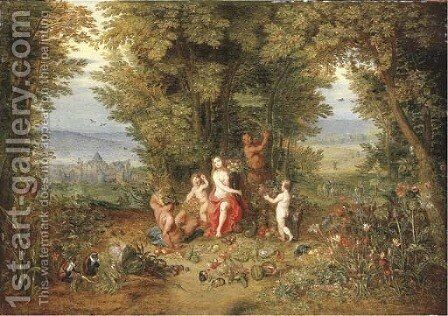 An Allegory of Earth 2 by (after) Jan, The Younger Brueghel - Reproduction Oil Painting