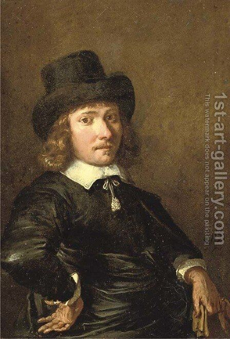 Portrait of a gentleman by (after) Jan De Bray - Reproduction Oil Painting