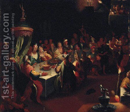 Belshazzar's Feast by (after) Jan Harmensz. Muller - Reproduction Oil Painting