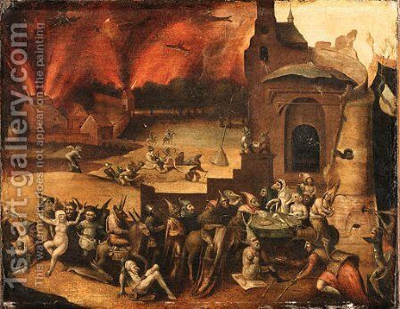 An Allegory of the Horrors of War by (after) Jan Mandyn - Reproduction Oil Painting