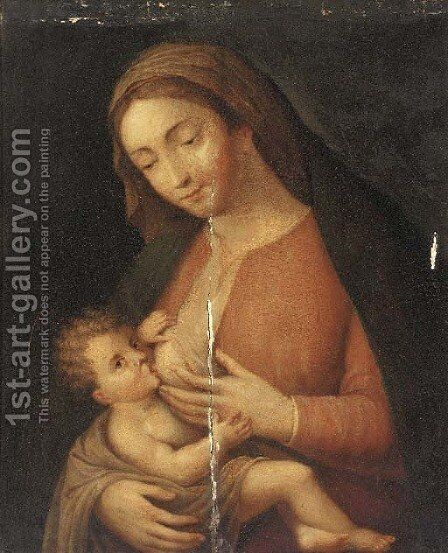 The Virgin and Child by (after) Jan Massys - Reproduction Oil Painting